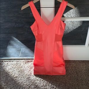 Pink Mesh Double V-neck Bebe dress ✨💫